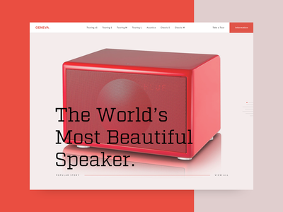 Geneva Speakers Landing Page Hero