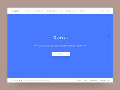 Experian Exploration II layout color design brand typography type interaction selection button ui  ux ui menu nav web design web