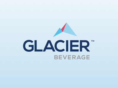 Glacier Beverage logo design brand design water bottle