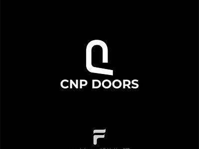 CNP DOORS Minimal Concept Logo simple minimalist logo minimal cnp logo designer logo aker ui graphic design logo design logo inspiration branding designer brand identity logo maker branding