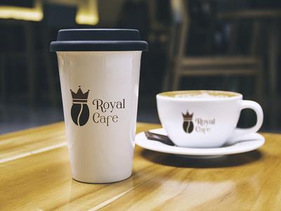 ROYAL CAFE Logo Design vector illustration design 3d ui logo motion graphics graphic design animation logo inspiration branding designer brand identity logo maker branding
