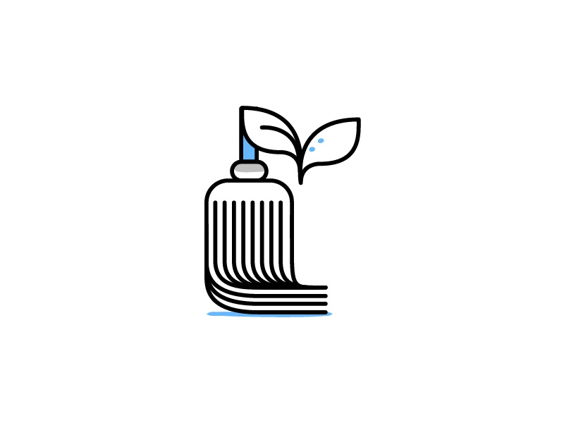 Maintenance Icons Pt 3 simple minimal leaves leaf floor clean responsible sustainable green mop illustration icon