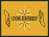 Living Generously money light hand vector monoline series church illustration design line minimal