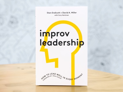 Improv Leadership strategy editorial campaign vector typography type social motion monoline minimal line head face design cover coaching branding book animation abstract