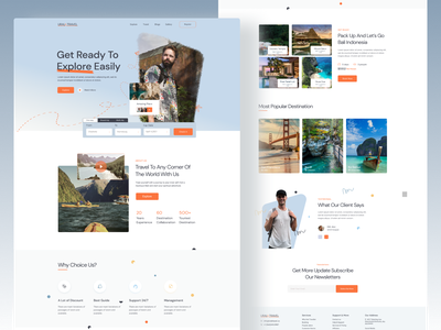 Travel  Landing page Exploration upcoming trending travel layout website ui  ux trend interface ui design webdesign 2021 trend travel agency travelling landing page