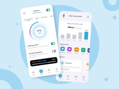 Smarthome App : Dishome 🏡 home home decor smart electricity electronic room bill electric living room living app smart light smart home app smart house smarthome smart home ux uiux app