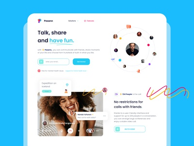Social & Messaging Website Design : Pesann social socialmedia messaging app social messaging app social network pesan messaging social media design message app social media web typography icon logo illustration branding design ui ux app