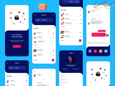 Social & Messaging Application Kits : Pesann media messages messaging messager talks network social media design social network social media socialmedia social message messaging app people message app branding design ui ux app