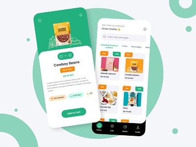 Grocery Market Application : Grocerly 🛒 minimal mobile eccomerce marketplace marketing grocery list grocery online groceries grocery store grocery app application market grocery logo branding illustration design ui ux app