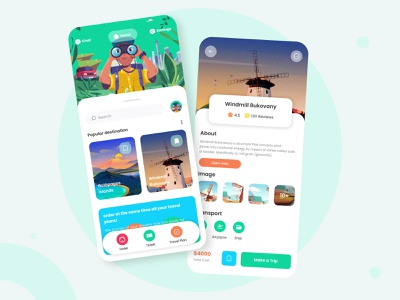 Travel Agency : MoribusPlace ✈ beautiful beautiful place place travel agency travelling travel app traveling travel logo branding illustration design ui ux app