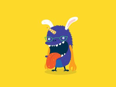 Monster No. 3 - Mutant Unicorn Bunny