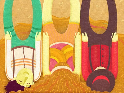 Sandals, Sequins and Red illustration poster play musical fun