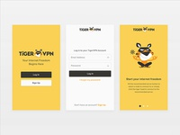 TigerVPN Onboarding Screens