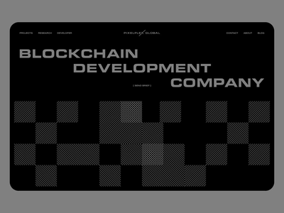 Pixelplex minimalism minimal website ux ui responsive concept clean web grid