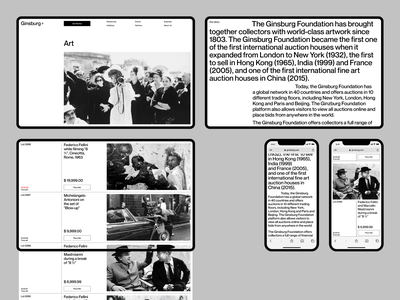 Ginsburg fullscreen mobile white website minimal ux ui concept clean web grid