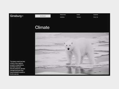 Ginsburg motion animation website minimal ux ui responsive concept clean web grid