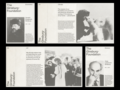 The Ginsburg Foundation typogaphy minimal design identity branding design poster print branding logo clean grid
