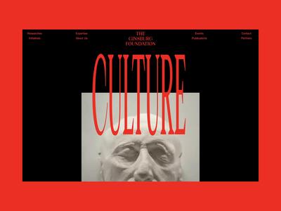 Ginsburg Loading Animation desktop website animation motion minimal ux ui concept clean web grid
