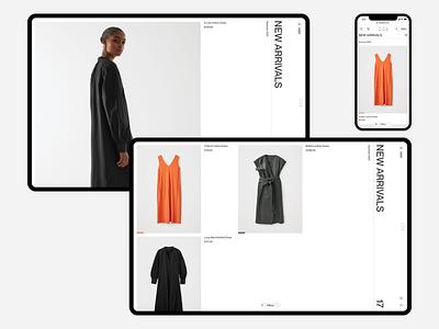 COS Catalog e-commerce website responsive minimal ux ui concept clean web grid