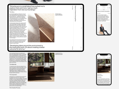 COS Magazine blog editorial website responsive minimal ux ui concept clean web grid