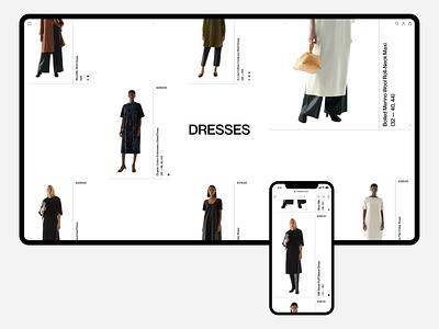 COS design minimal ux ui concept clean web grid