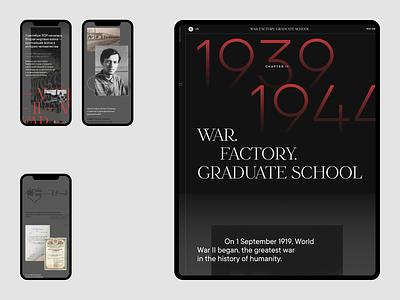 Andrei Sakharov (Chapter II) clean storytelling webflow grid web typography ux ui design