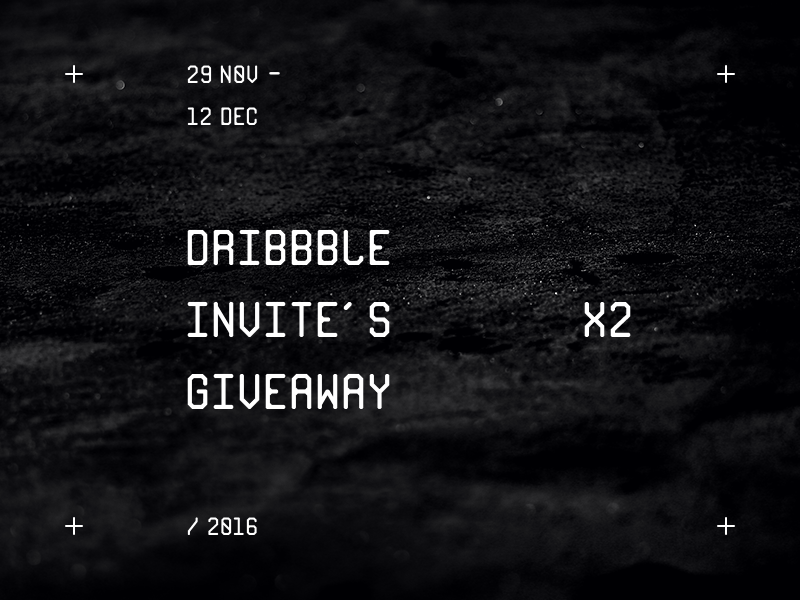 Dribbble Invites Giveaway typography invitation design graphic giveaway invite dribbble dark