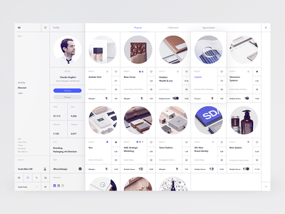 Bēhance Rethink Concept minimalism pure clean ux ui grid white whitespace sketch dashboard concept behance