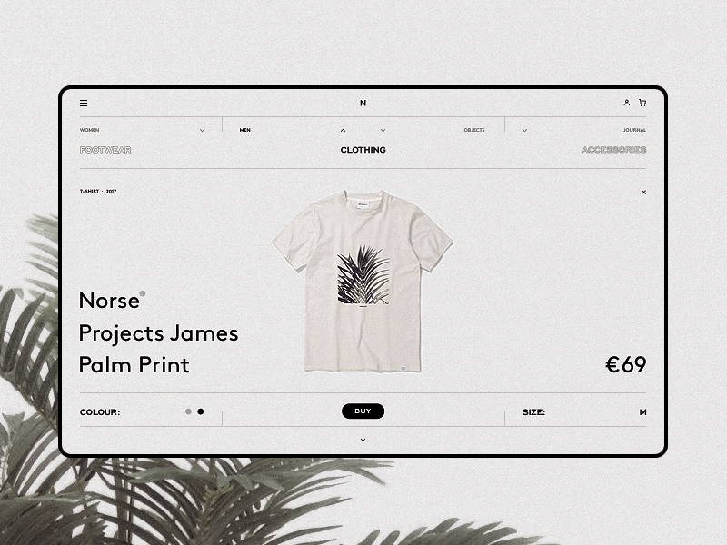 Norse Store wip grey website web responsive minimal grid fullscreen concept clean e-commerce desktop