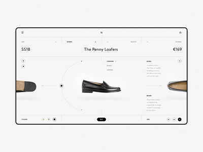 Norse Store wip website web responsive minimal grid grey fullscreen e-commerce desktop concept clean