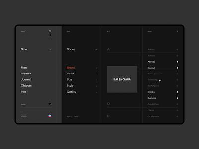 Norse Store. Filter. black sketch webdesign minimalism store shop desktop e-commerce white fullscreen wip minimal website ux ui responsive concept clean web grid