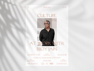 Kinfolk typogaphy design print wip minimal concept clean grid