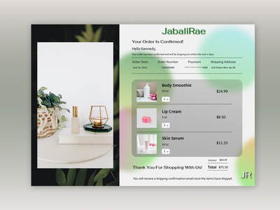 Email Receipt - Daily UI 17 vector flat web ux design ui