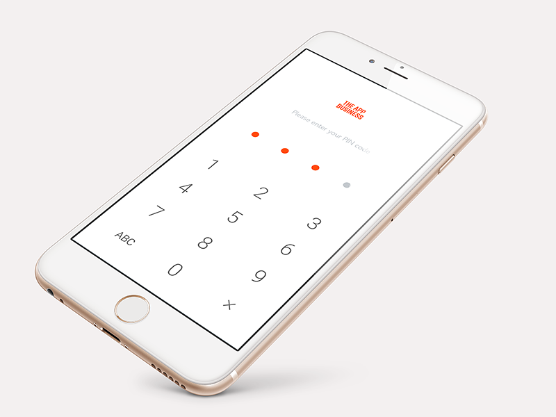 PIN code page concept pin code screen simple ios theappbusiness concept design ui