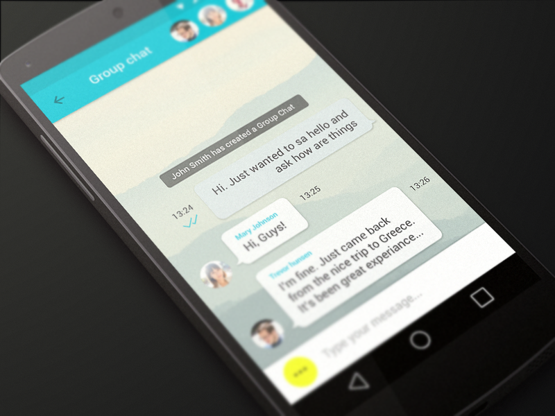 Multi chat android app by dima shvedun dribbble dribbble - Funformobile com login ...