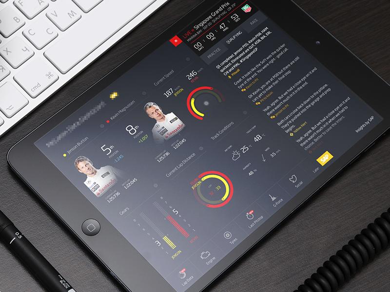 Playing with data racing app ipad dashboard data