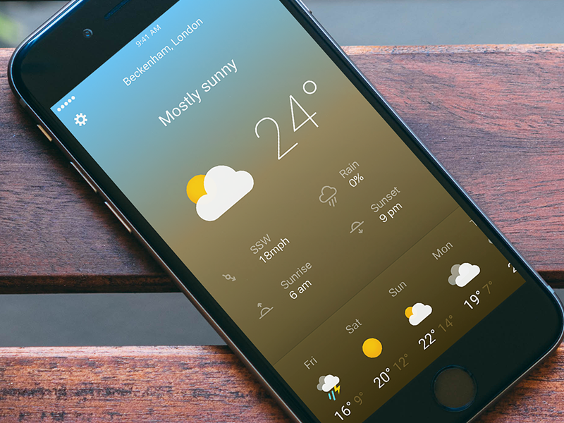 Another Weather App concept icons london mobile visual ux ui app weather