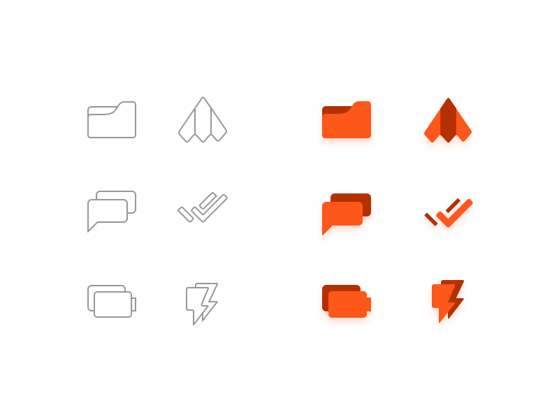 Some routine icons mobile design ui vector icons