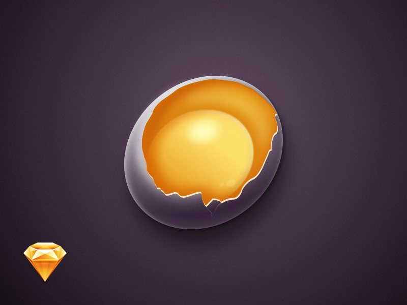 Egg icon in Sketch drawing realistic vector icon egg app sketch