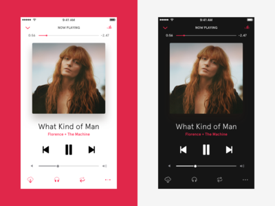 AppleMusic player redesign iphone mobile ios ios10 icons ux ui redesign player music apple
