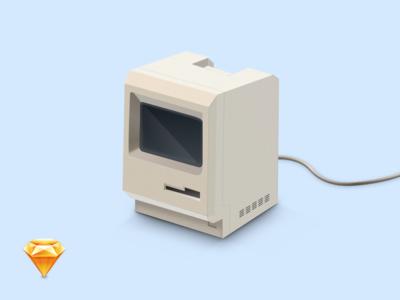 Macintosh Sketch file free icon vector file sketch macintosh mac apple