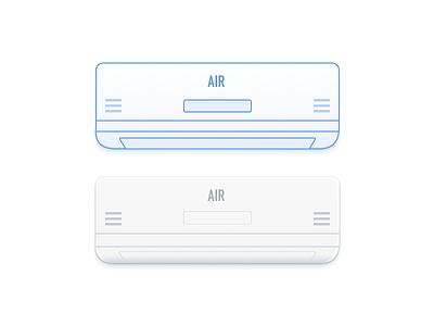 Air Conditioner ui design conditioner air vector sketch illustration icon