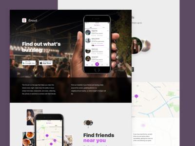 Circuit Landing page venue meet friends london icon ui ux design landing web