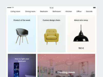 Raumbild iPad app ux ui fair constructor 3d furniture mobile app design ipad