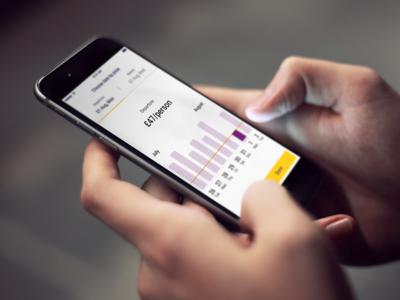 Choose cheap tickets UI visual design ios mobile concept idea ui