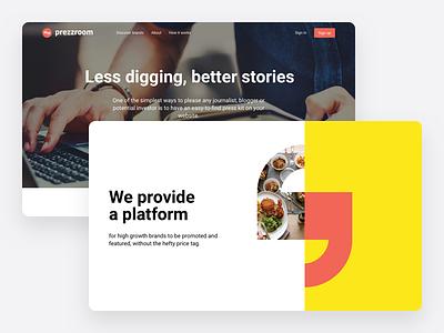 Prezzroom site redesign interactive ux ui responsive design web