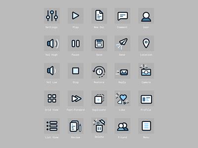 Icon Set figma flat iconography