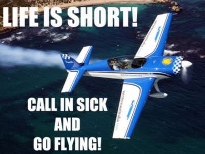 Life is short flying