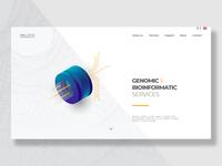 Bioinformatic Web concept