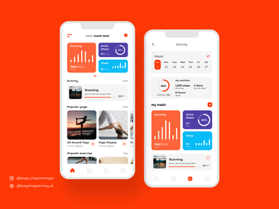Fitness Apps appsdesign userinterface gym illustration ui design android app fitness
